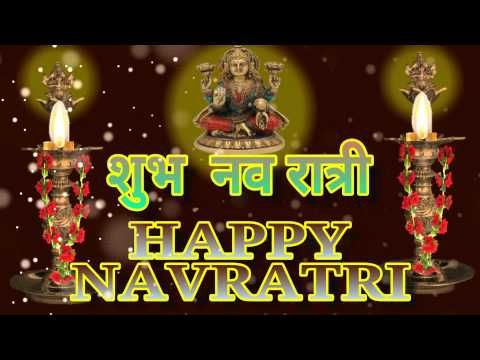 Shubh Navratri, Happy Navratri 2016,Wishes,Greetings,Images,Whatsapp Video, in Hindi - YouTube