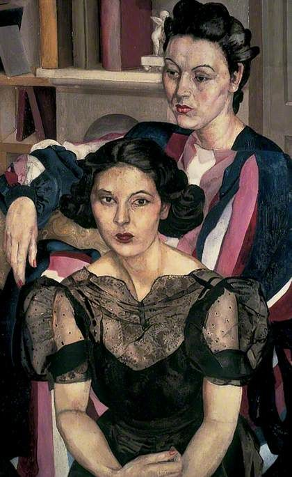 The Sisters  by Stanley Spencer  Date painted: c.1940  Oil on canvas, 121.9 x 76.2 cm  Collection: Leeds Museums and Galleries