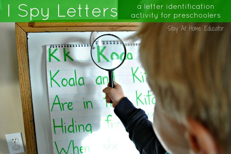 I spy letters, a letter identification activity for preschoolers - Stay At Home Educator