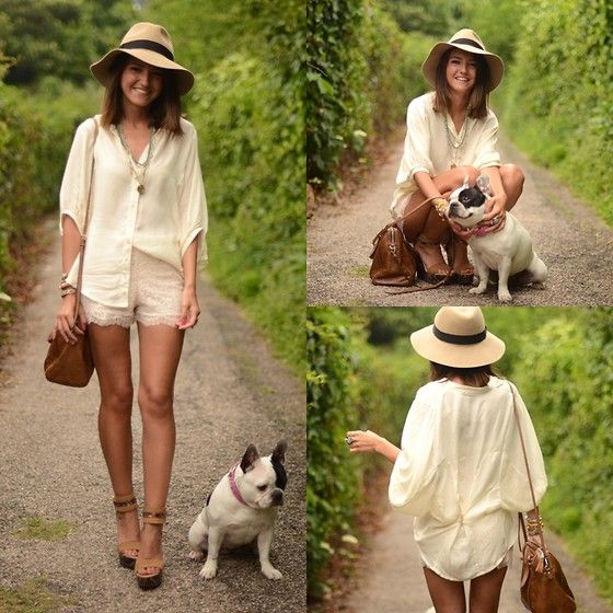 Monochrome.: Boho Chic, Summer Style, White Style, Straws Hats, Street Style, Outfit, Weekend Style, Lace Shorts, Tops Hats