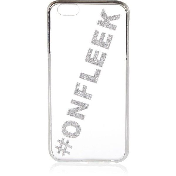 River Island Silver glittery iPhone 6 phone case found on Polyvore featuring accessories, tech accessories, bags and river island