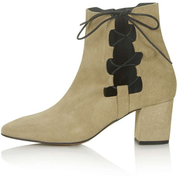 The ankle boot takes on our obsession with ghillie lace ups in this suede style.  Comes with a pointed toe and lace-up side.  Perfect for wearing now and into …