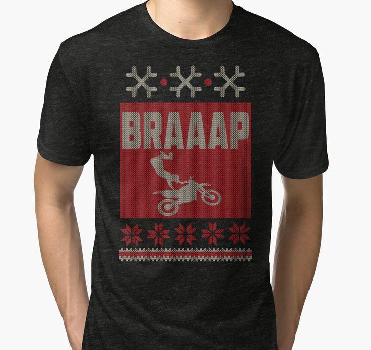 Dirt Bike, Braaap Christmas T-Shirt