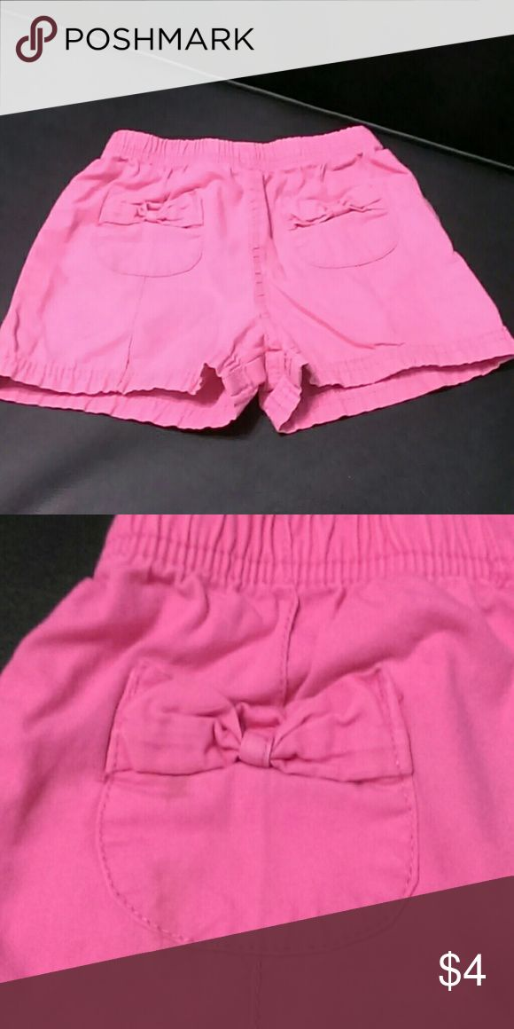 Kid's Girl's Pink Shorts Kid's Girl's Pink Shorts with Bows on Two Pockets- Size 2T Faded Glory Bottoms Shorts