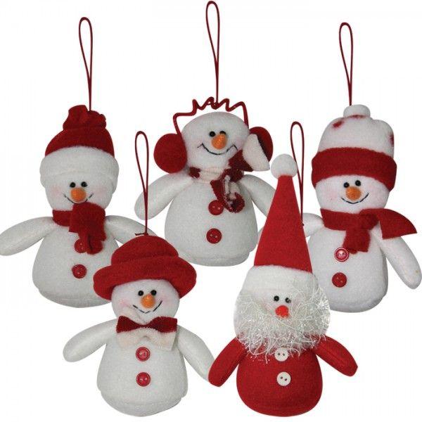Muñecos colgantes de navidad