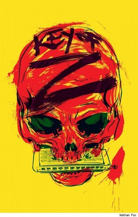 Skull… cover by Nathan Fox viaBest Comic Book Covers Ever..