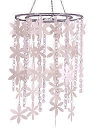TIERED FLOWER BEADED CEILING SHADE R199