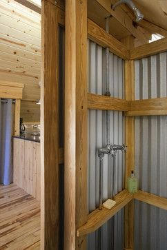 Metal Shower Walls Design Ideas, Pictures, Remodel, and Decor