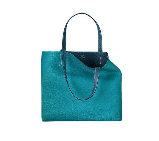 hermas bag  - hermes double sens large izmir blue/sapphire blue