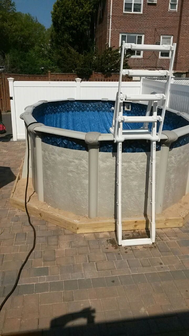 1000 images about above ground pool installation on pinterest for Above ground pools and installation