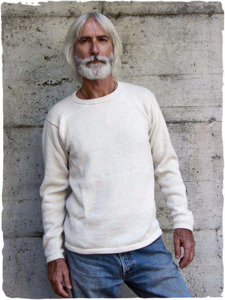 Javier Wollpullover #Pullover in #Glattstr mit #Rundhalsausschnitt - #Einfarbig. #AlpakaWolle #alpaca #jersey #lamamitafashion