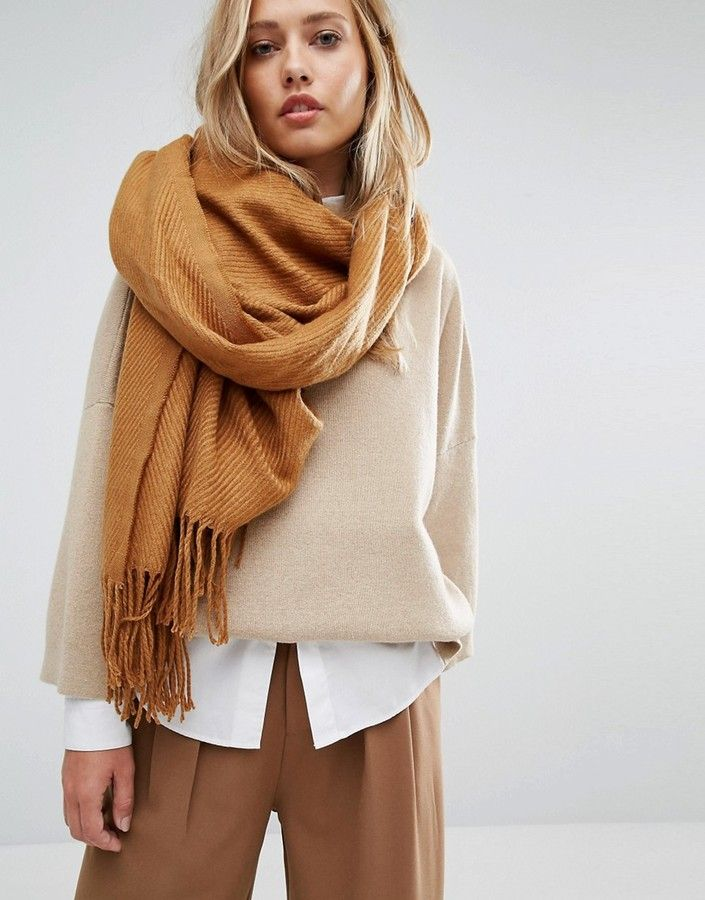 Warm colored scarves for not so warm weather.