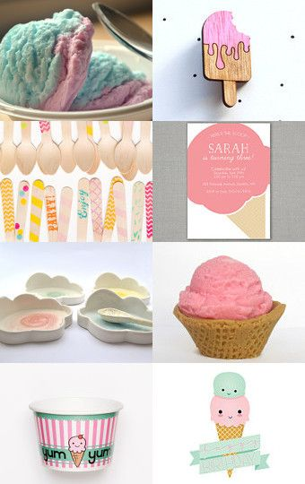 Ice Cream  by Needle And Line on Etsy--Pinned with TreasuryPin.com