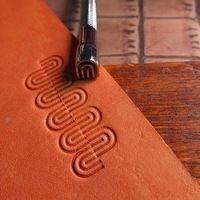 DIY Johnleather Craft Старший Стали Металлическая Конструкция Кожа Craft Инструменты Stamp Средства Отпечаток