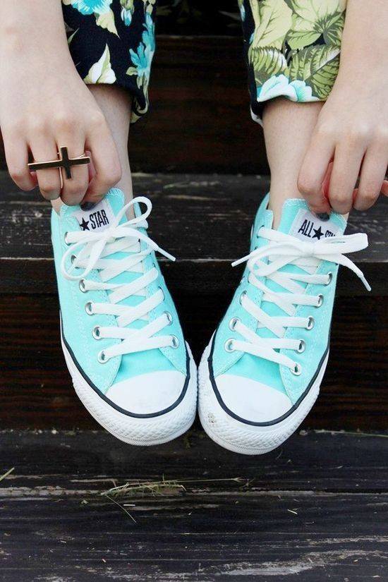 Tiffany blue converse?? YESSS!!!! Just bought these today as a little present to myself :)