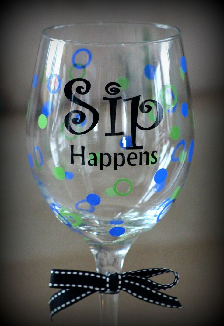I love the color combination on this one! This wine glass went to Vegas on a plane and homed itself in AZ :)