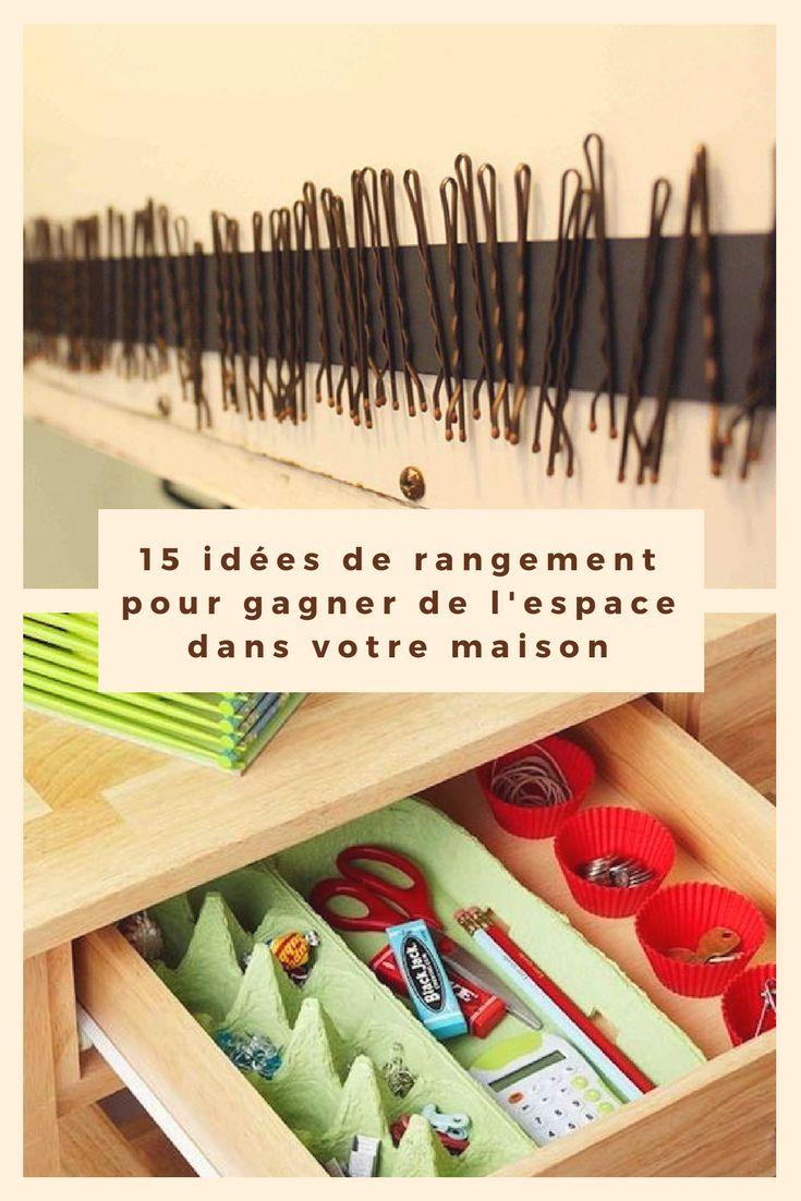 15 idées de rangement pour gagner de l'espace dans votre maison. . . . #rangements #maison #espace #idées #trucs #astuces #conseils #rangement #organisation
