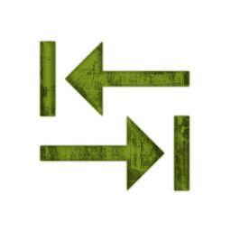Last Left Right Arrows Icon #005338