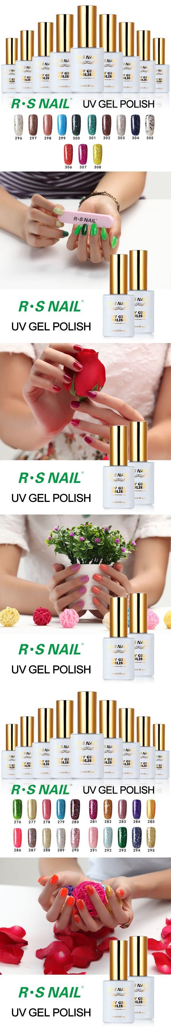 R.S 15ml 3 step soak off long lasting uv gel nail polish set gel lucky set of nail uv nail colors lacquers varnish professional