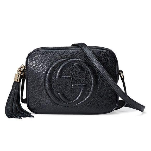 ef5e2feb70f Gucci Soho Disco Black Crossbody Shoulder Handbag New Gucci Soho Disco Black  Textured Leather Bag Shoulder