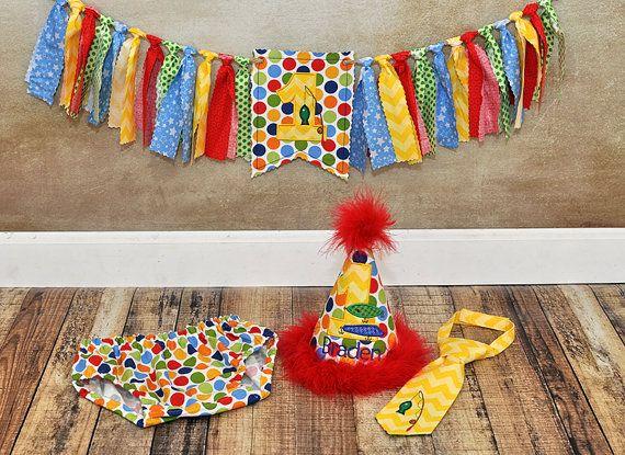 First Birthday Gone Fishing Smash Cake Diaper