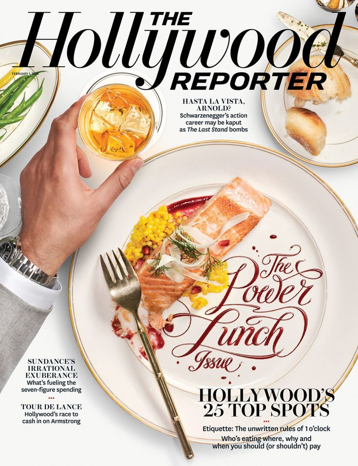 The Hollywood Reporter – The Power Lunch Issue - Luke Lucas – Typographer | Graphic Designer | Art Director