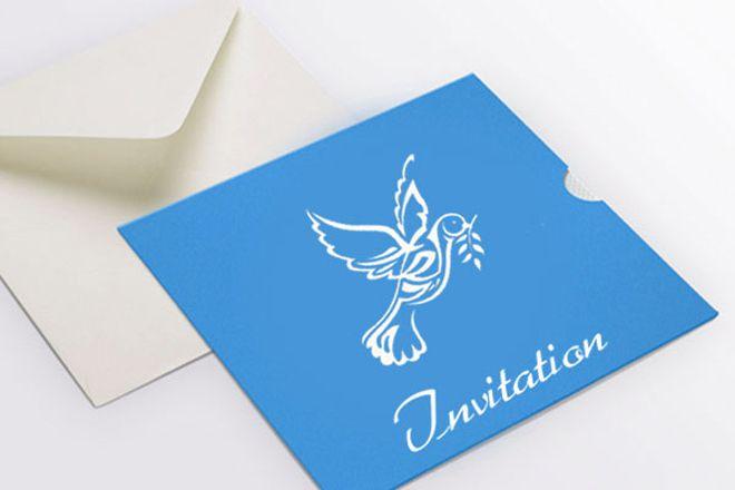 Contoh Desain Undangan Pernikahan Islami - Biru Twitter Invitation