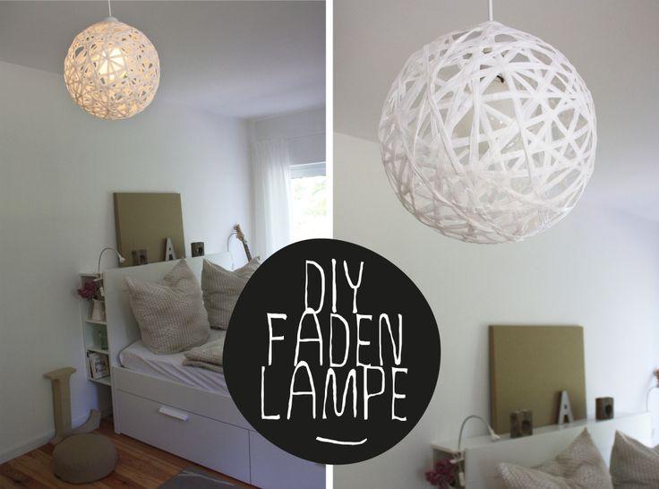Hallo Piepmatz! DIY Anleitung für runde Fadenlampe aus Bast, statt Luftballon Wasserball nehmen