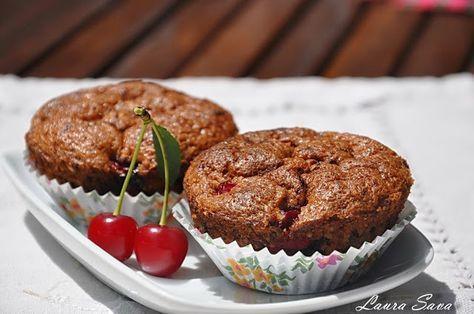 Briose cu visine si ciocolata | Retete culinare cu Laura Sava