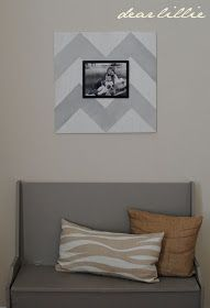 Oversized Chevron Picture Frame Tutorial