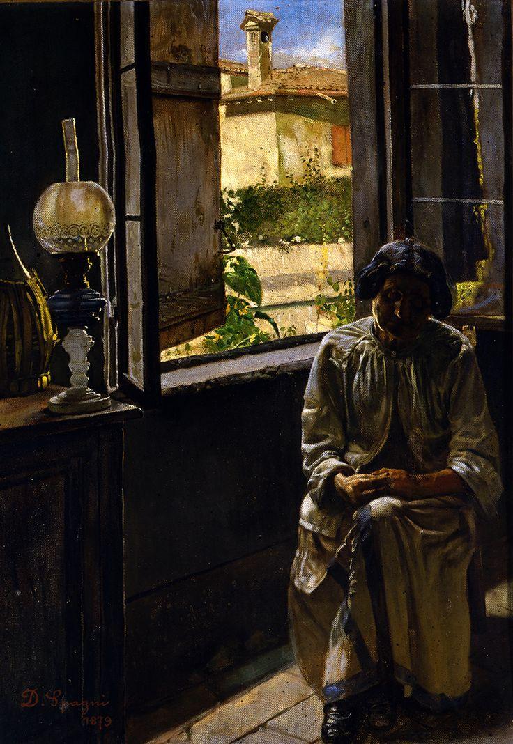 Ritratto della madre, Domenico Spagni, 1879, Olio su tela, Musei Civici di Reggio Emilia