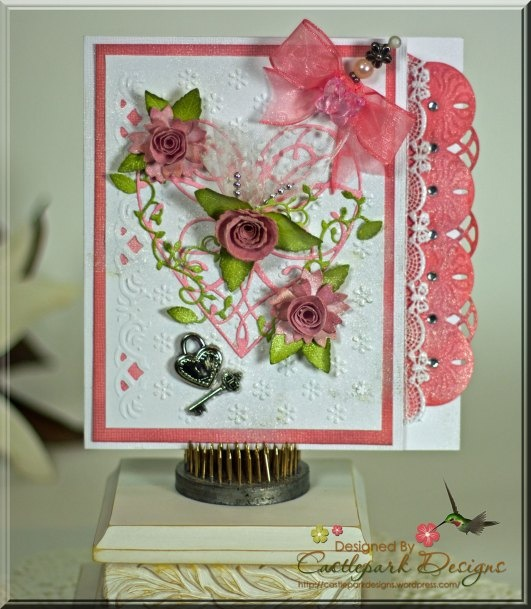 Pink and White Card
