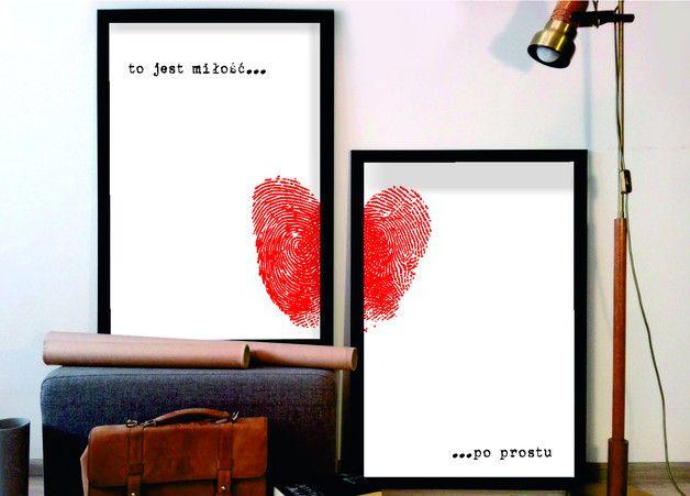 50x70 2 szt plakat miłosny serce - ARTT - Dekoracje