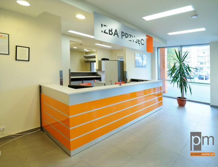 Lada recepcyjna w szpitalu. http://www.projektmebel.pl/realizacje