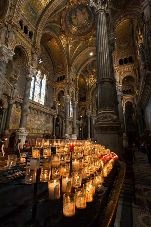 Basilica of Notre-Dame de Fourvière I lit a candle for my Father here.  Awesome.