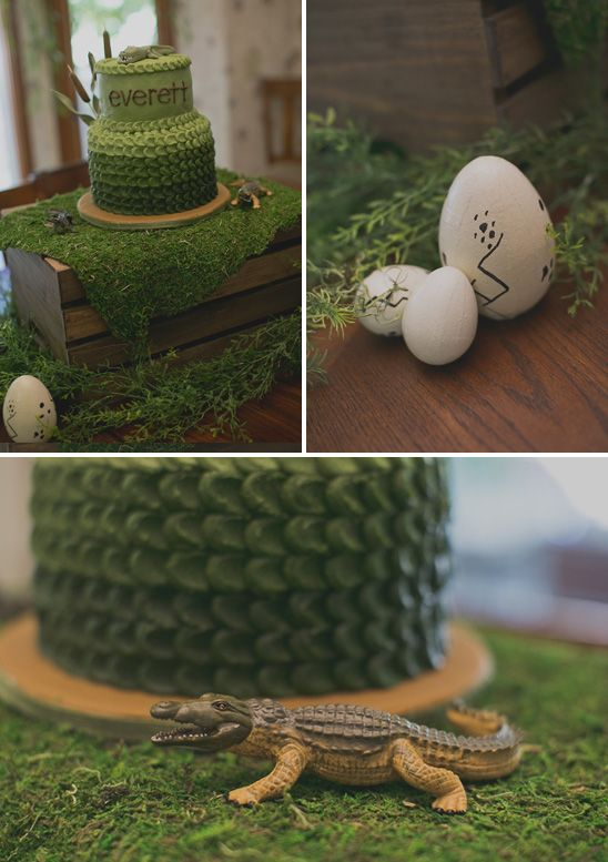 Alligator Themed First Birthday Party