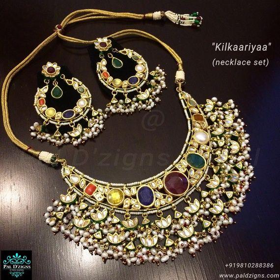 Polki Navrattan necklace