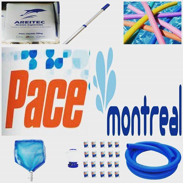 Areia para o filtro de sua piscina, cabos telescópicos, macarrão, produtos Hth Pace e Montreal, peneiras, cloradores, mangueiras e muito mais!!