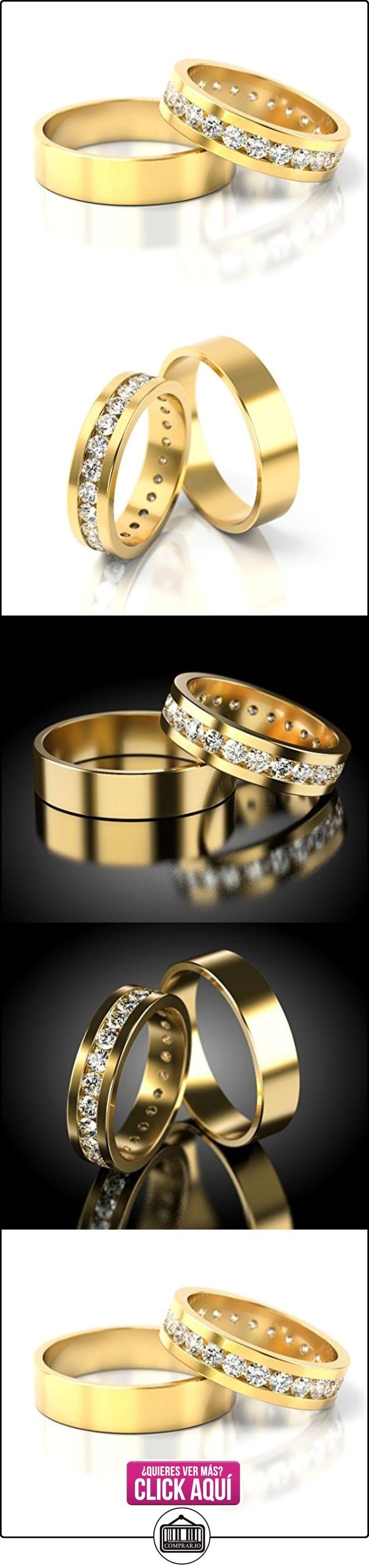 Anillos De Boda Oro amarillo 750_S-916_D  ✿ Joyas para hombres especiales - lujo ✿ ▬► Ver oferta: https://comprar.io/goto/B01DRC14NO