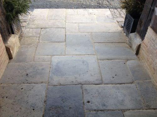 Calçada em pedra calcária / rodoviário 201438 bca materiaux anciens
