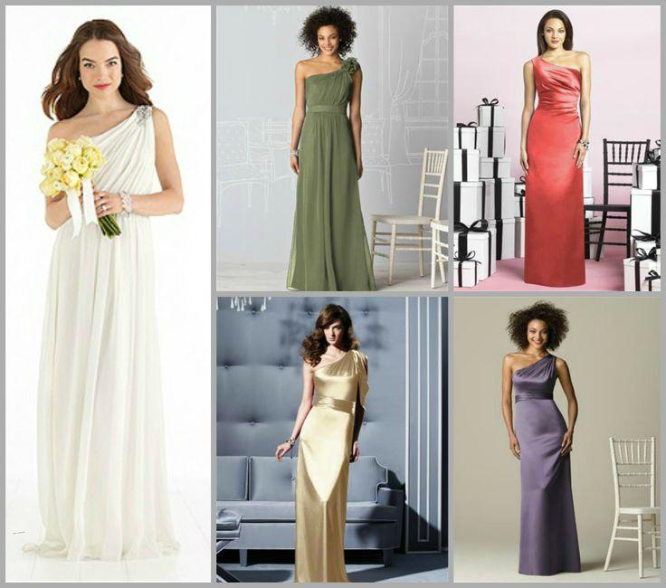 20 best One Shoulder Bridesmaid Dresses images on Pinterest | Short ...