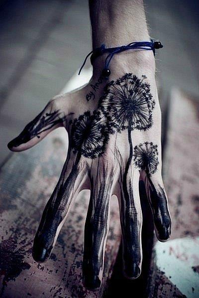 dandelion hand tattoos   Tumblr
