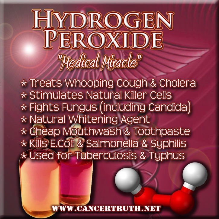Hydrogen Peroxide - use only FOOD GRADE diluted 35% hydrogen peroxide. Again, food grade only and must be diluted first before using. This can be found at many health food stores. Not to be confused with the h.p. bought at drug stores that have additives toxic if consumed.