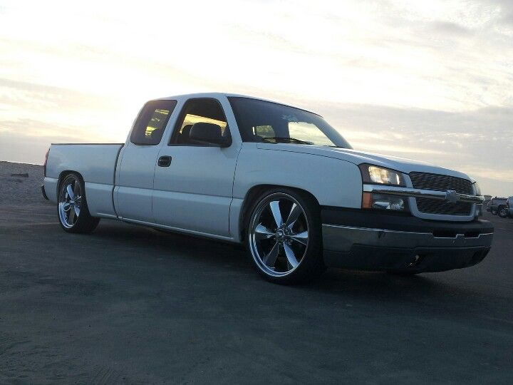 Chevy Silverado Dropped On 24s 05 Chevy On 24
