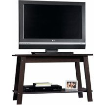"Sauder Beginnings Cinnamon Cherry TV stand for TVs up to 37"" $29.99"