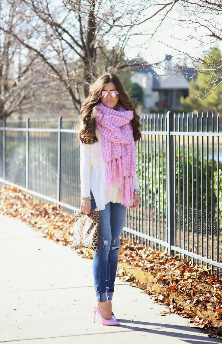 SWEATER: Nordstrom | DENIM: Dittos c/o (last season - this season's similar) | SCARF: Nasty Gal (also...