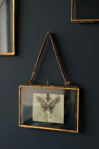 Brass Glass Picture Frame - 4x6 Landscape.  Have guitar info hanging beside each guitar framed in these