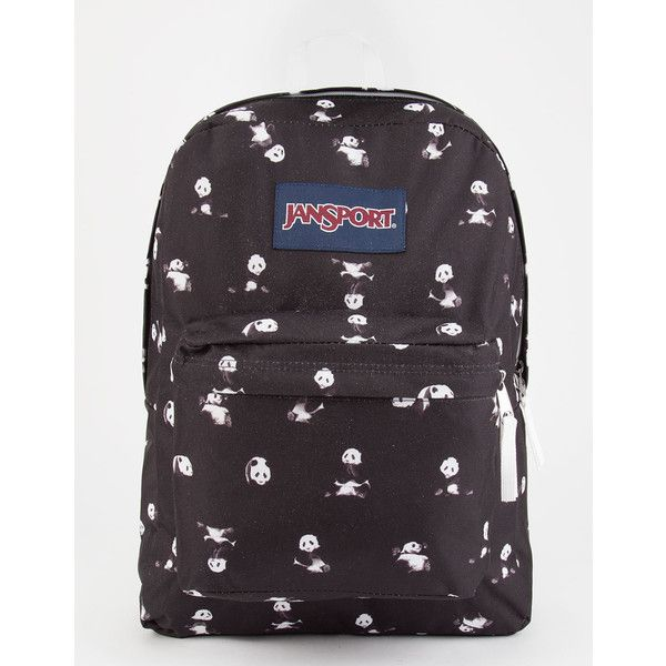 8e01ff1bdb0 Jansport Panda Space Superbreak Backpack ( 36) ❤ liked on Polyvore  featuring bags