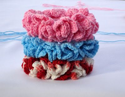 Crochet Hair Scrunchie Tutorial