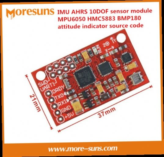 42.21$  Buy now - http://aliepq.worldwells.pw/go.php?t=32681727372 - Fast Free Ship IMU AHRS 10DOF sensor module MPU6050 HMC5883 BMP180 attitude indicator with the source code module